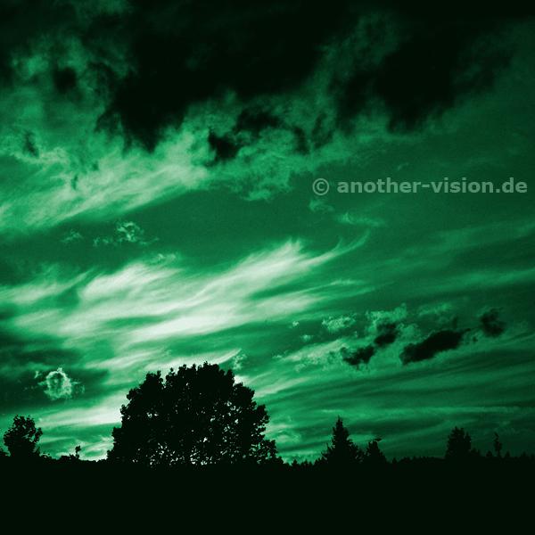 Himmel über Penzlin kurz vor Konzertbeginn der Band CITY am 28.06.2008