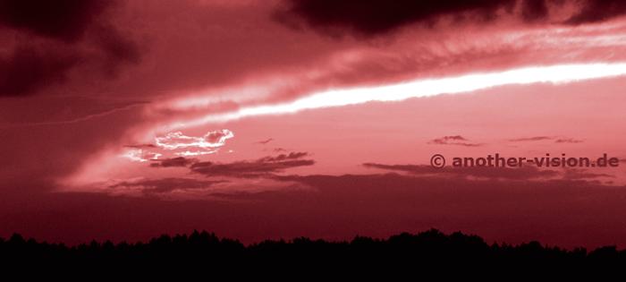 Himmel über Zossen - Abendhimmel - rot