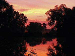 Früher Morgen in Mittenwalde am Tonsee