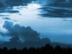 Himmel über Zossen - blau - Fotografie der Triologie 'rgb'