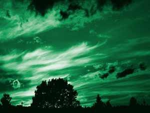 Himmel über Penzlin kurz vor Konzertbeginn von City am 28.06.2008